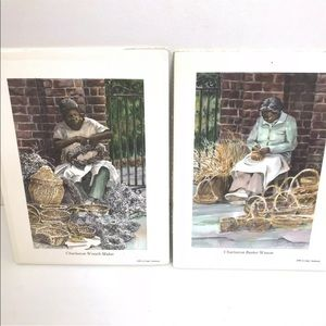 Charleston SC Sweetgrass Basket Ladies Art